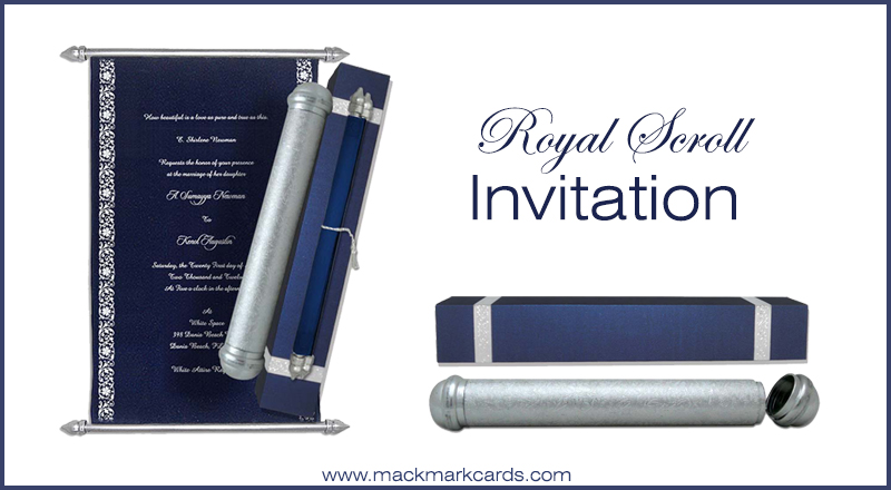 Scroll Invitations A Style Here to Stay