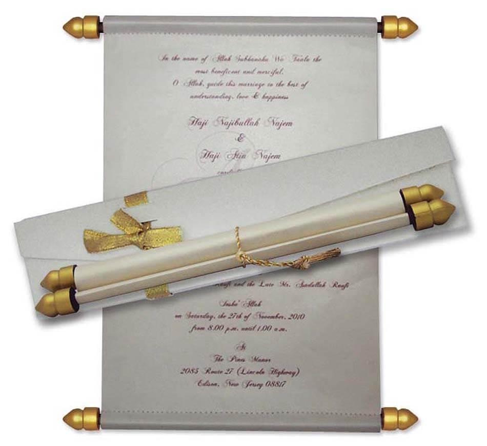 SCR 106 Princess Scroll Invitations by Mackmarkcards