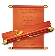 Red Metallic Scrolls
