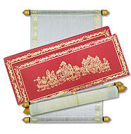 Indian Scroll Wedding Invitations, Scroll Invitations India