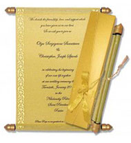 Scroll Indian Wedding Invitations, Scroll Knobs For Invitations, Scroll Wedding Invitations Flintshire, Buy Scroll Invitations Omaha