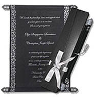 Black Scroll Invitations