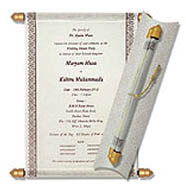 Scroll Tube Invitations, Make Your Own Scroll Invitations, Buy Scroll Invitations Pembrokeshire, Buy Scroll Wedding Invitations Arlington