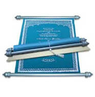 Scroll Cards, Masquerade Scroll Invitations, Scroll Invitations Anglesey, Scroll Wedding Invitations Tampa
