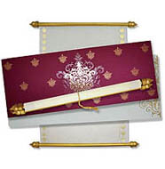 Scroll Invitations with Box, Scroll Royal Wedding Invitations, Buy Scroll Wedding Invitations Clackmannanshire, Scroll Invitations Florida
