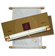 Artistic Scroll Invitations, Scroll Invitation Rods, Scroll Wedding Invitations Sunderland, Scroll Wedding Invitations NJ