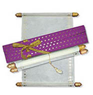 Masquerade Scroll Invitations, Invitation Scrolls Wholesale, Scroll Invitations Wells, Scroll Wedding Invitations Scotland
