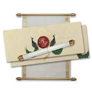 Peacock Scroll Invitations, Sweet 16 Party Invitations, Scroll Invitations City of London, Buy Scroll Invitations Ireland