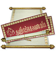 Scroll Wedding Cards, Indian Style Scroll Invitations, Scroll Invitations India
