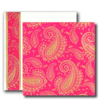 Hindu Wedding Cards, Pink Gold theme, Paisley design cards
