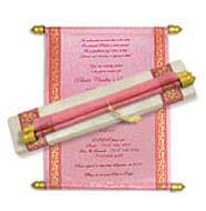 Scroll Boxes, Birthday Party Scroll Invitations
