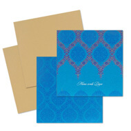 Turquoise blue Indian wedding cards, where to buy indian wedding cards, Indian Wedding Invitations Oakland, Indian wedding cards Gloucester