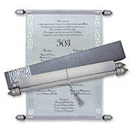 Scroll Invitations, Egyptian Scroll Invitations, Buy Scroll Wedding Invitations Leicestershire, Scroll Invitations Memphis