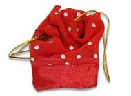 Red sheer organza pouch