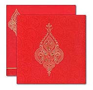 Muslim Wedding cards, Red Gold theme, Muslim Cards UK