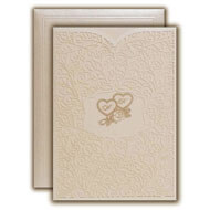 Online Christian Wedding cards, Muslim wedding cards wholesale, White metallics laser cut cards