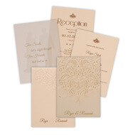 Off White Lasercut Cards, hindu wedding cards online shopping, Indian wedding cards Fort Worth, Muslim Wedding Cards Wigtownshire