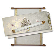 Royal Scroll Invitations Wedding Cards