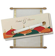 Wedding Scroll Invitation