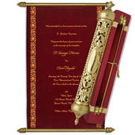 Royal Velvet Scrolls, Luxurious scrolls, Scroll Invitations United States