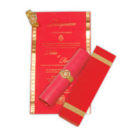 Mini Red Scrolls, Princess Scroll Invitations USA, Scroll Wedding Invitation Cheap