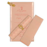 Mini Light Pink Scrolls, Luxurious Scroll Invitations Printing, USA Scroll Invitations