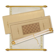 Laser Cut Scroll Invitations, Buy Scroll Invitations online USA, Rich Scroll Invitations