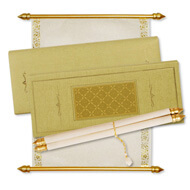 Laser Cut Scroll Boxes, Buy Lasercut Scroll Invitations online, Scroll Invitations London