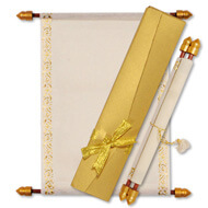 Scrolls with Ribbon Boxes, Making Scroll Invitations, Buy Scroll Wedding Invitations Salford, Scroll Wedding Invitations Dubai