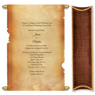 Parchment Scroll Invitation