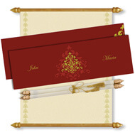 Burgundy Gold Scroll Invitation, Scroll Invitations with box, Scroll Wedding Invitations, Scroll Invitations, Birthday Scroll Invitation