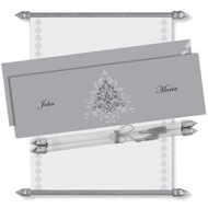 Silver Scroll Invitation, Scroll Invitations with box, Scroll Wedding Invitation, Scroll Invitations, 25th Anniversary Scroll Invitation