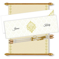 Royal Scroll Invitation, Scroll Invitations with box, Scroll Wedding Invitations, Scroll Invitations, Vintage Motif