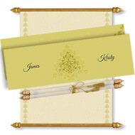 Gold Scroll Invitation, Scroll Invitations with box, Scroll Wedding Invitation, Scroll Invitations online