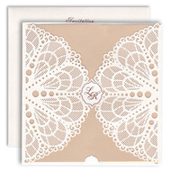 White lasercut cards, buy laser cut invitations, Muslim Wedding Cards Saint Paul, Hindu Wedding Cards Salisbury
