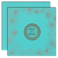 Blue Indian wedding cards, muslim wedding invitation cards online, Indian wedding cards Riverside, Muslim Wedding Cards Oxford