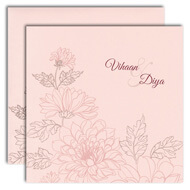 Pink Indian wedding cards, buy punjabi wedding cards online, Indian wedding cards Anchorage, Muslim Wedding Cards Preston