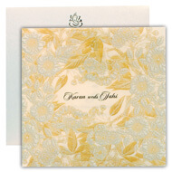Islamic wedding cards, Flower based indian cards, Indian cards London
