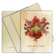 Digital butter paper printed invitation cards