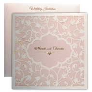 Classic lasercut wedding invitations, Fine engraved wedding invitations, Wedding cards Mumbai