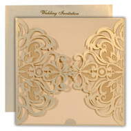 Shop lasercut wedding invitations, Gold theme, Indian wedding cards buy online