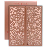 Shop lasercut wedding cards online, Copper theme, Indian wedding invitations