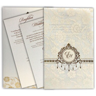 Tracing paper wedding invitation, Gold foiling, Muslim wedding invitations UK