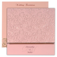 exclusive Light Brown Indian wedding cards