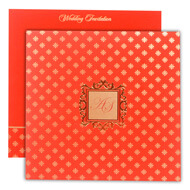 Red Gold Indian wedding Invitations, Hindu wedding cards online