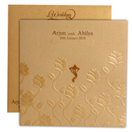 Hindu wedding cards with Ganesha
