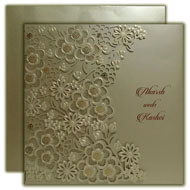 Silver Wedding Invitations, Bespoke Invitations, Engagement cards, Muslim Marriage cards