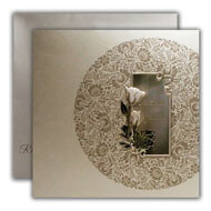 Cheap Islamic Wedding Invitations, Floral Silver Wedding Invitations, Indian Invitations in NJ