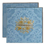 Buy Islamic Wedding cards in UK, Floral Indian Wedding cards, Budget Indian Wedding Invitation cards