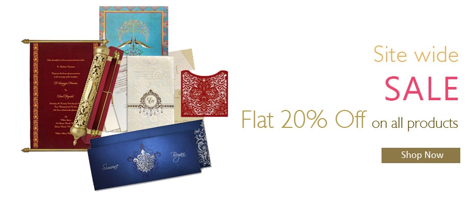 Site Wide Sales - Flat 20% off on all products